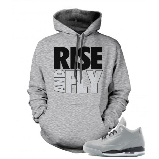 "Rise And Fly - Air Jordan ""5LAB3"" Elephant Print Hoodie"