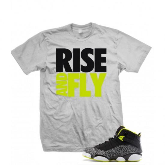 "Rise And Fly - Air Jordan 6 Rings ""Venom Green"" T Shirt"