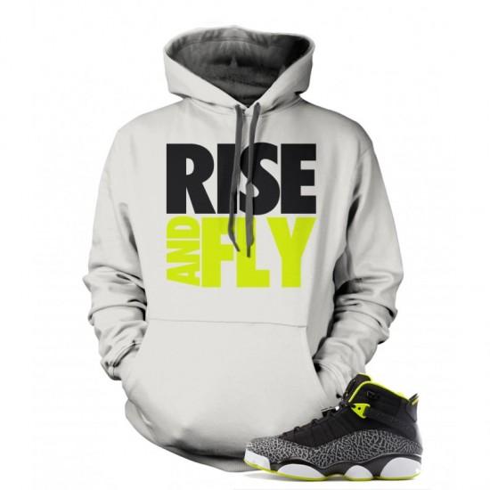 "Rise And Fly - Jordan 10 Retro ""Venom Green"" Hoodie"