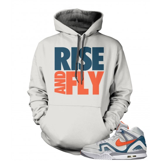 """Rise And Fly - Air Tech Challenge II """"Clay Blue"""" Hoodie"""