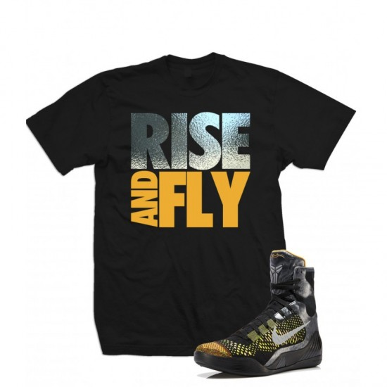 "Rise And Fly - Kobe 9 Elite ""Inspiration"" Silver Foil T Shirt"