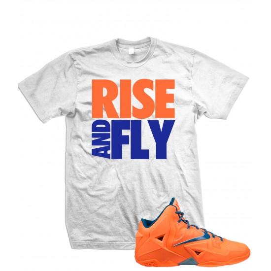 """Rise And Fly - LeBron 11 """"Orange/Blue"""" T Shirt"""