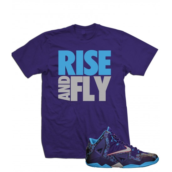 "Rise And Fly - LeBron 11 ""Purple/Gray"" T Shirt"