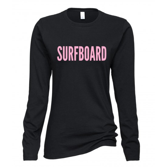 Beyonce Surfboard Juniors Long Sleeve T-Shirt