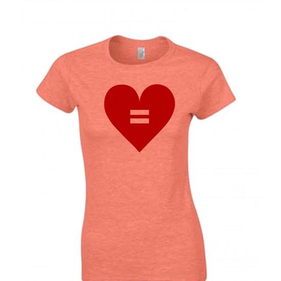 Equal Rights Heart Juniors T Shirt