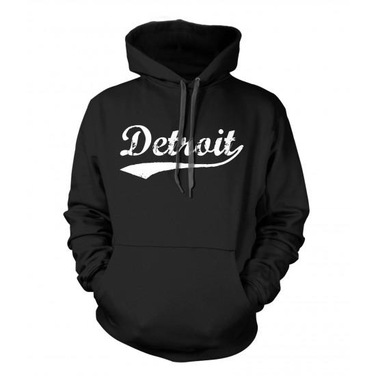 Detroit Retro Athletic Hoodie White Print
