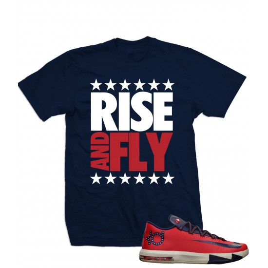 Rise And Fly - Kevin Durant KD 6s Star Spangled T Shirt