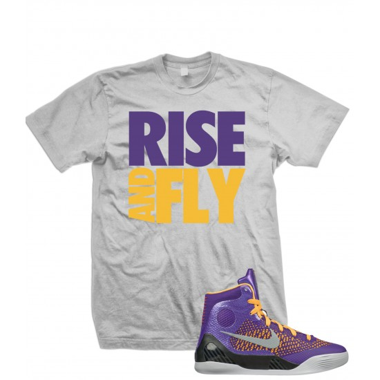 """Rise And Fly - Kobe 9 Elite GS """"Home Team""""  LA Lakers Color T Shirt"""