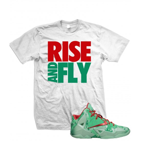 """Rise And Fly - LeBron 11 """"Mint/Crimson"""" T Shirt"""