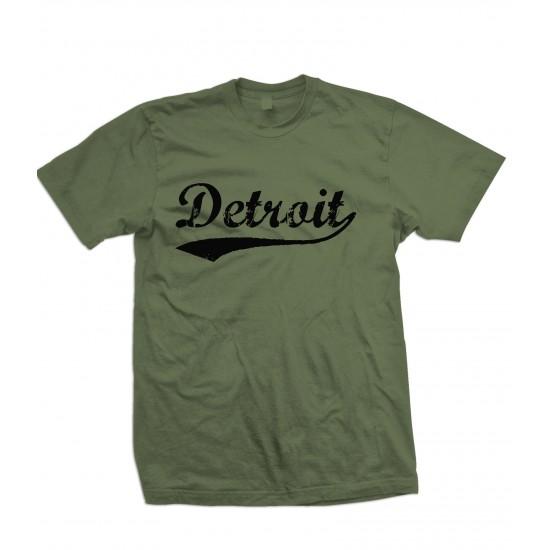 Detroit Retro T Shirt Black Print