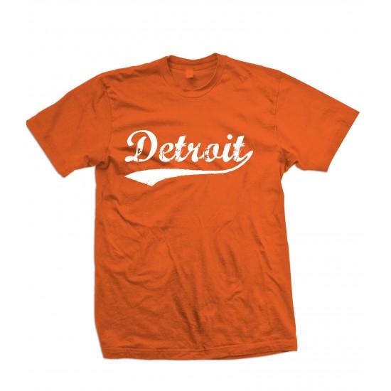 Detroit Retro T Shirt White Print