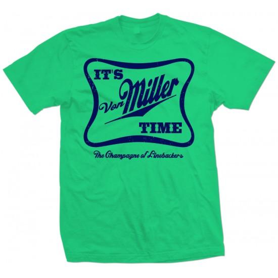 It's Von Miller Time T Shirt Navy Print