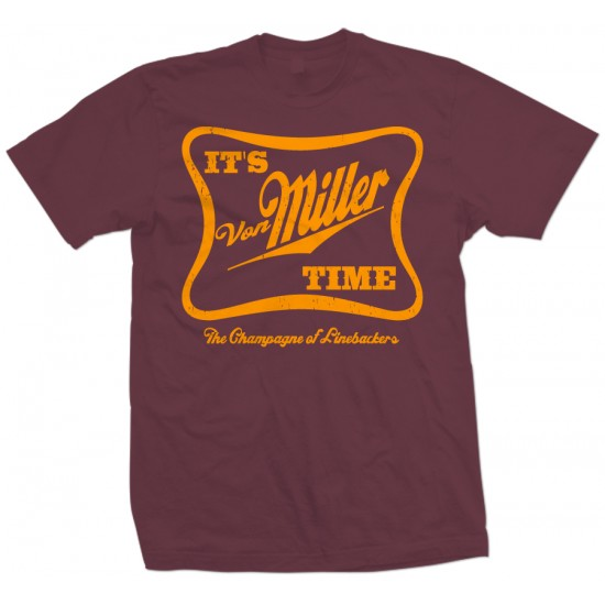 It's Von Miller Time T Shirt Orange Print