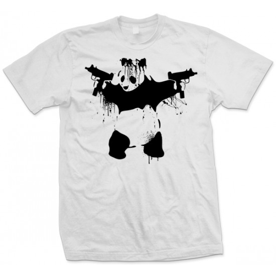 Banksy Panda With UZI's T Shirt