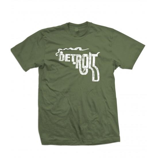 Detroit Pistol Smoking Gun T Shirt