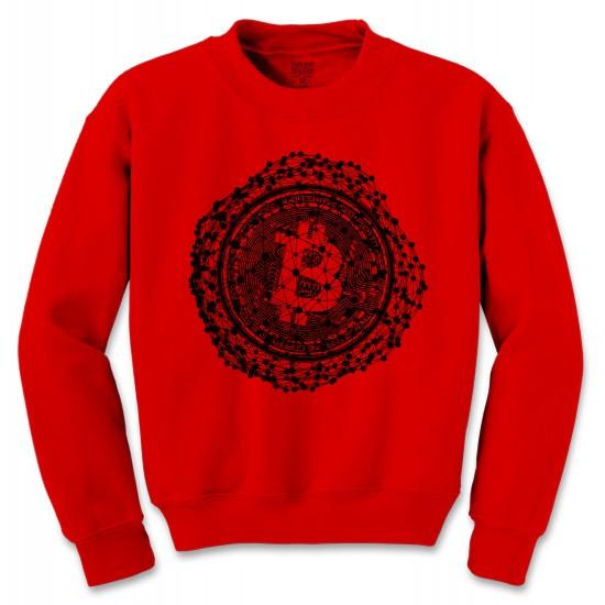 Bitcoin Connected Nodes Crew Neck Sweatshirt
