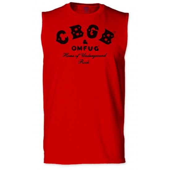 CBGB Sleeveless T Shirt - Black Print