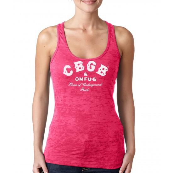 CBGB -White Print Womens Burnout Tank Top