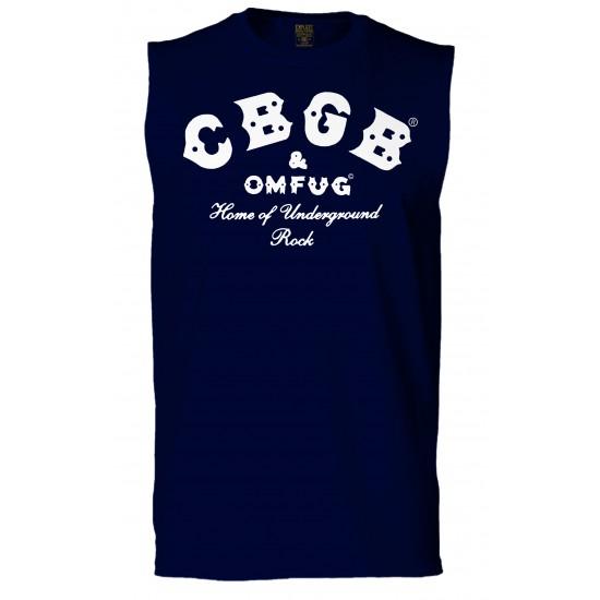 CBGB Sleeveless T Shirt - White Print