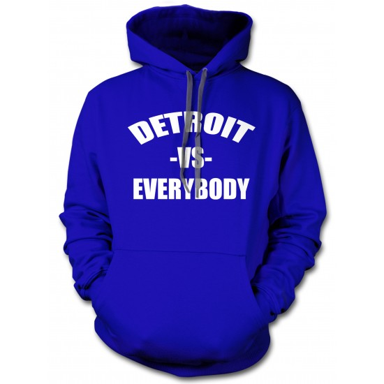 Detroit vs. Everybody Hoodie White Print