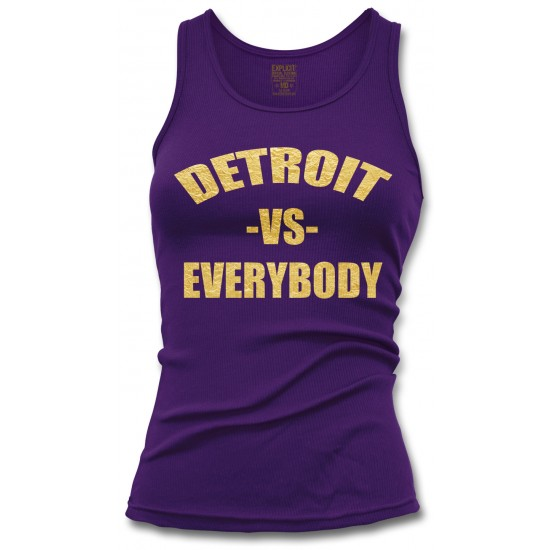 Detroit vs. Everybody Special Edition Gold Foil Womens Tank Top