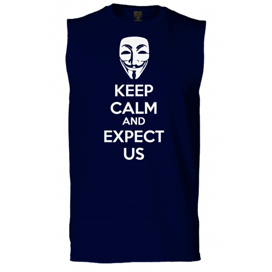 Anonymous Mask Keep Calm and Expect Us Sleeveless T-Shirt