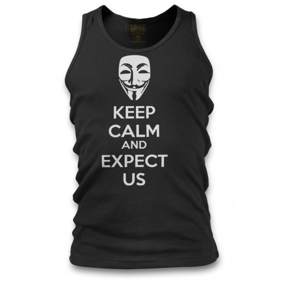 Anonymous Mask Keep Calm and Expect Us Men's Tank Top