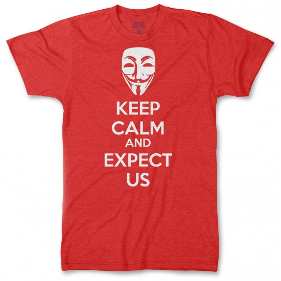 Anonymous Mask Keep Calm and Expect Us  Men's Tri-Blend T Shirt