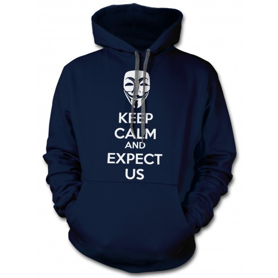 Anonymous Mask Keep Calm and Expect Us Hoodie