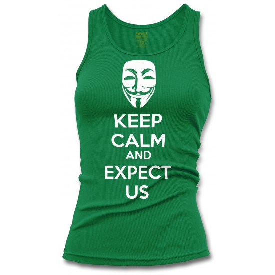 Anonymous Mask Keep Calm and Expect Us Women's Tank Top