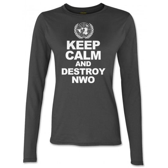 Keep Calm And Destroy NWO Juniors Long Sleeve T Shirt