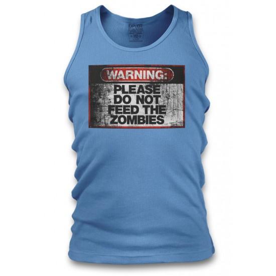Warning Do Not Feed Zombie Men's Tank Top