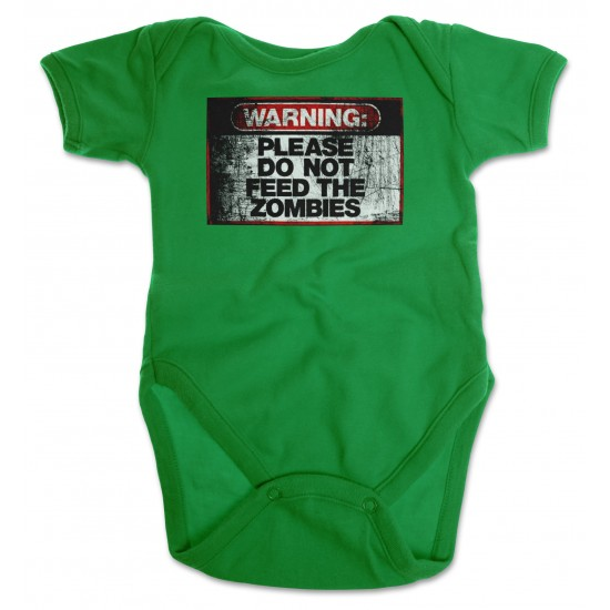 Warning Do Not Feed Zombie Onesie