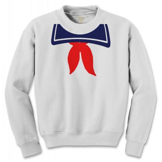 Marshmallow Man Halloween Costume Crewneck Sweatshirt