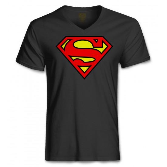 Superman Halloween Costume Men's Tri-Blend V Neck