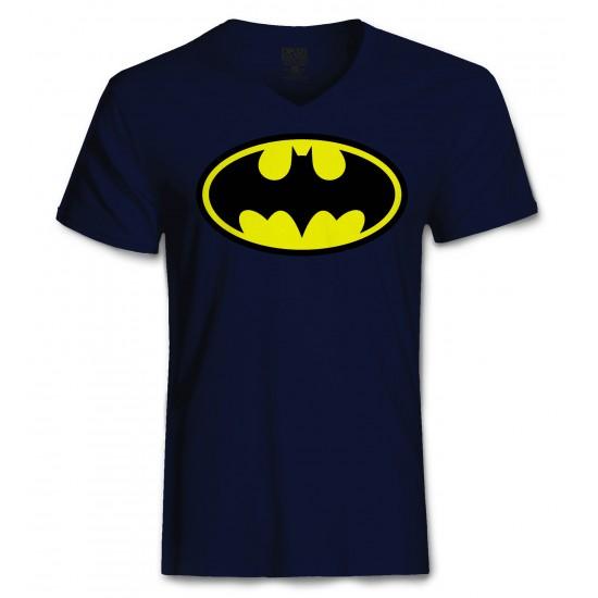 Batman Halloween Costume Men's Tri-Blend V Neck