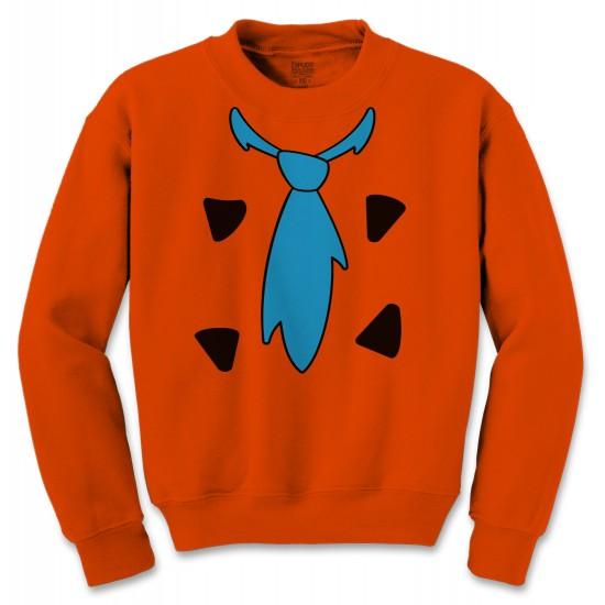 Fred Flintstone Halloween Costume Crewneck Sweatshirt