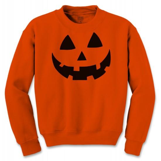 Pumpkin Face Halloween Costume Crewneck Sweatshirt