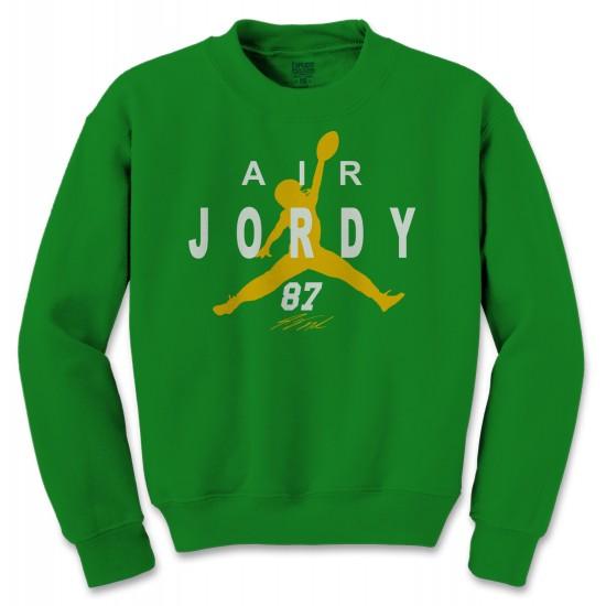 Air Jordy Nelson Green Bay Packers Crewneck Sweatshirt