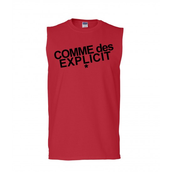 Comme Des Explicit Sleeveless T-Shirt
