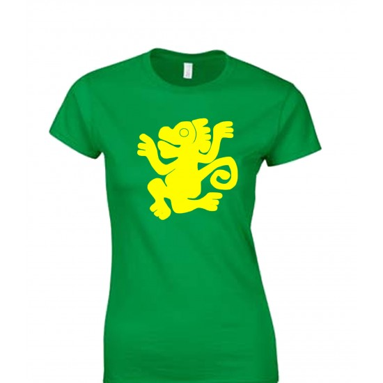 Legends Of The Hidden Temple Green Monkeys Juniors T Shirt