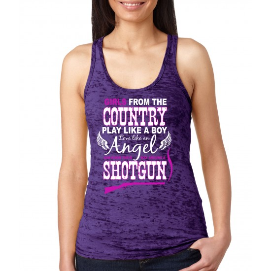 Girls From the Country Burnout Tank Top