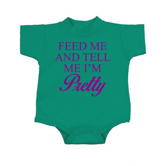 Feed Me and Call Me Pretty Onesie