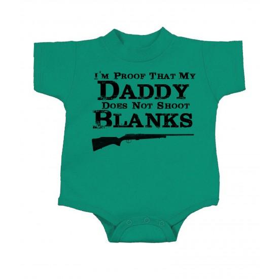 Daddy Don't Shoot Blanks Onesie