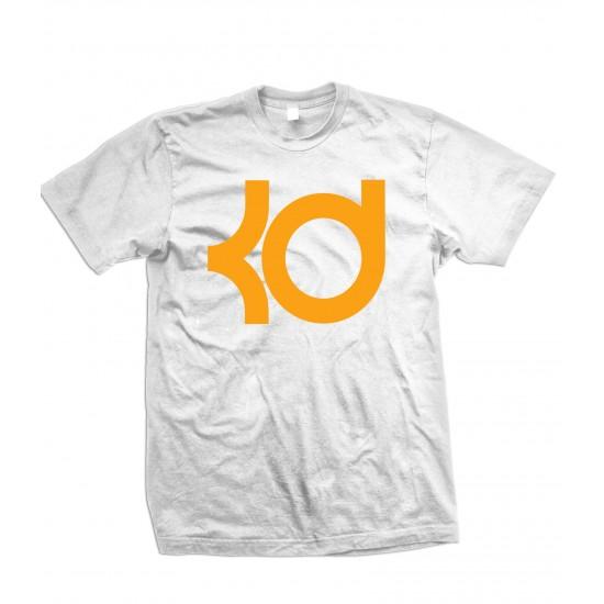 KD T Shirt KD Kevin Durant T Shirt Orange Print - ZA9-JZ210 Explicit Clothing™