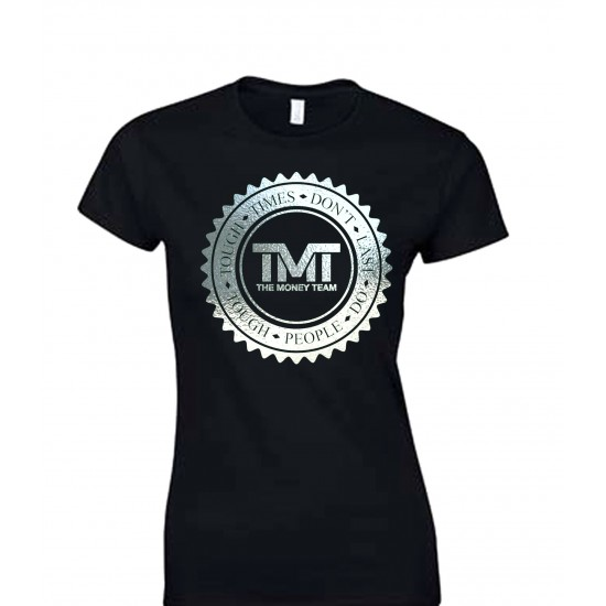 TMT Money Team Emblem Special Edition Silver Foil Juniors T Shirt