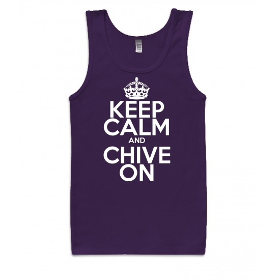 Keep Calm and Chive On Tank Top