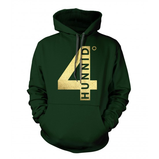 4 Hunnid Degreez Special Edition Gold Foil Hoodie