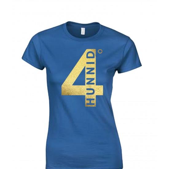 4 Hunnid Degreez Special Edition Gold Foil Juniors T Shirt