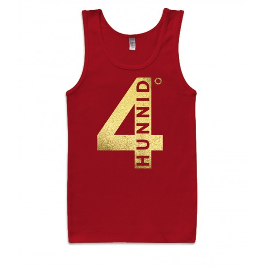 4 Hunnid Degreez Special Edition Gold Foil Tank Top